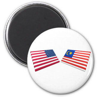 US & Malaysia Flags Magnet