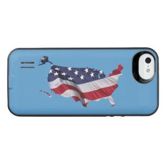 US Map American Flag iPhone 6 Plus Case