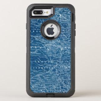 US Map Blueprint OtterBox Defender iPhone 7 Plus Case