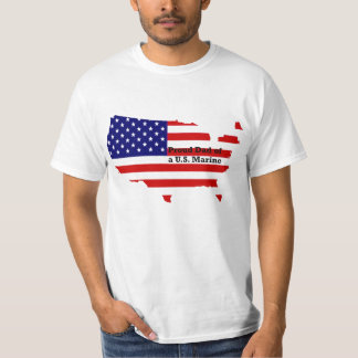 US-map_flag_dad_marine T-Shirt