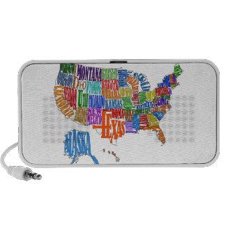 US MAP iPod SPEAKERS