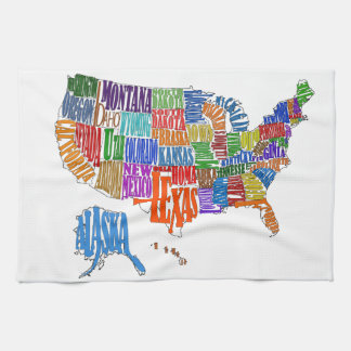 US MAP TEA TOWEL