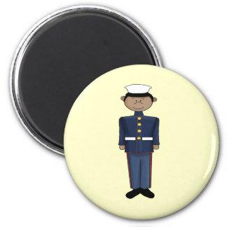 US Marine Corp Boy 6 Cm Round Magnet