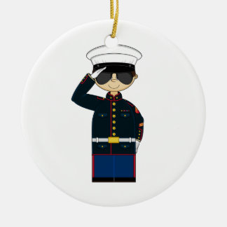US Marine Corp NCO Saluting Ornament