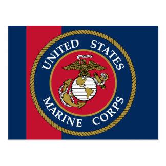 US Marine Corps - Blue Postcard
