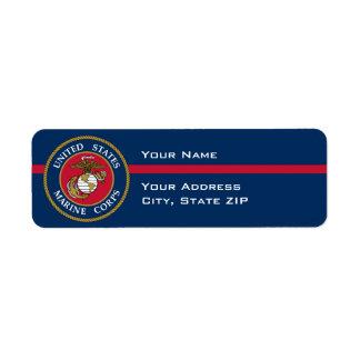 US Marine Corps - Blue Return Address Label
