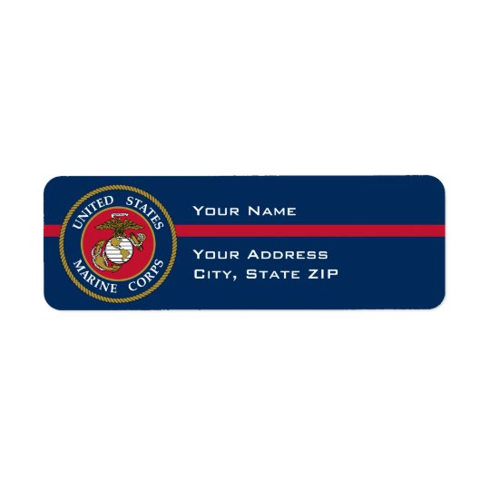 US Marine Corps - Blue Return Address Label