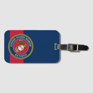 US Marine Corps - Retired Blue Luggage Tag