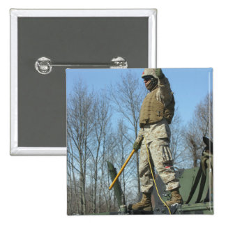 US Marine Corps Sergeant gives the thumbs up 15 Cm Square Badge