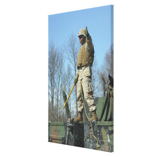 US Marine Corps Sergeant gives the thumbs up Canvas Print
