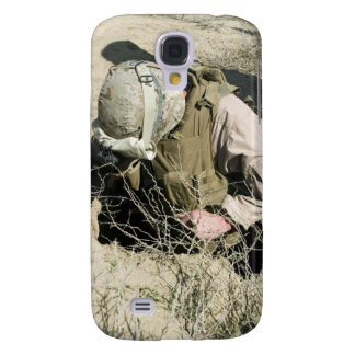 US Marine jumps down a hole Galaxy S4 Cases