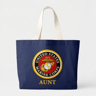 US Marine Official Seal - Aunt Large Tote Bag