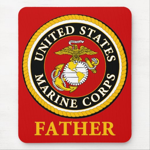 US Marine Official Seal - Father Mouse Pad