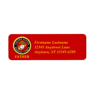 US Marine Official Seal - Father Return Address Label