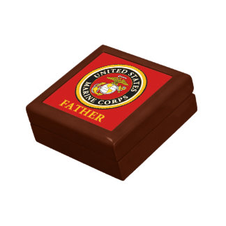 US Marine Official Seal - Father Small Square Gift Box