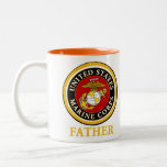 US Marine Official Seal - Father Two-Tone Mug