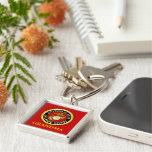 US Marine Official Seal - Grandma Silver-Colored Square Key Ring