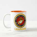 US Marine Official Seal - Grandpa Two-Tone Coffee Mug