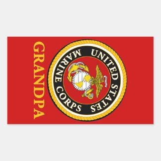 US Marine Official Seal - Grandpa Rectangular Sticker