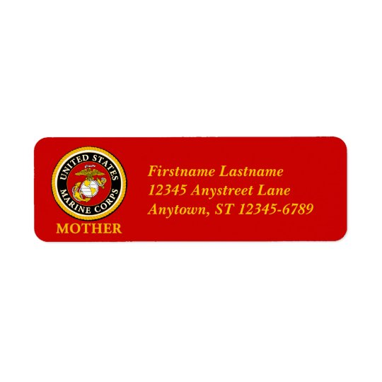 US Marine Official Seal - Mother Return Address Label