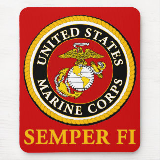 US Marine Official Seal - Semper Fi Mouse Pad