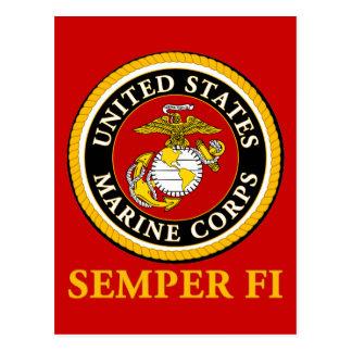 US Marine Official Seal - Semper Fi Postcard
