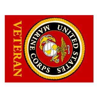 US Marine Official Seal - Veteran Postcard