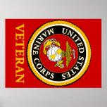 US Marine Official Seal - Veteran Poster