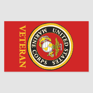 US Marine Official Seal - Veteran Rectangular Sticker