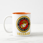 US Marine Official Seal - Veteran Two-Tone Mug