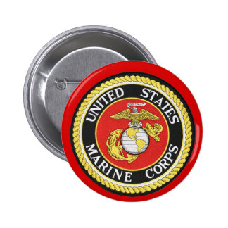 US Marine Seal 6 Cm Round Badge