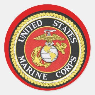 US Marine Seal Round Sticker