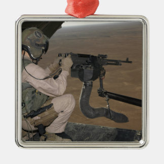 US Marine test firing an M240 heavy machine gun Christmas Ornament
