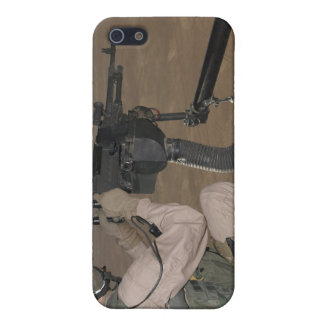 US Marine test firing an M240 heavy machine gun iPhone 5 Case