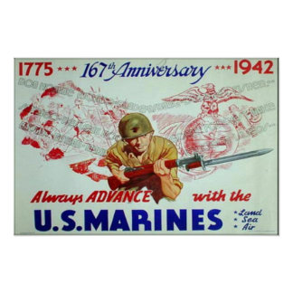 US Marines 167th Anniversary Poster
