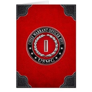 US Marines: Chief Warrant Five (USMC CWO-5) [3D] Card