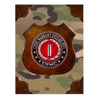 US Marines: Chief Warrant Five (USMC CWO-5) [3D] Postcard