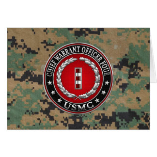 US Marines: Chief Warrant Four (USMC CWO-4) [3D] Card