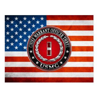 US Marines: Chief Warrant Three (USMC CWO-3) [3D] Postcard