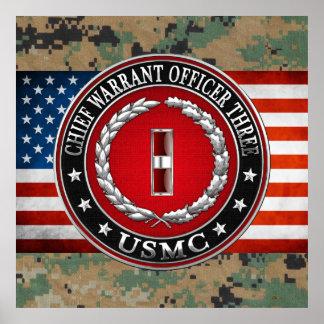 US Marines: Chief Warrant Three (USMC CWO-3) [3D] Posters