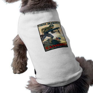 US Marines -- First In France Pet Shirt
