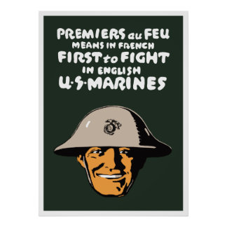 US Marines -- First To Fight Print