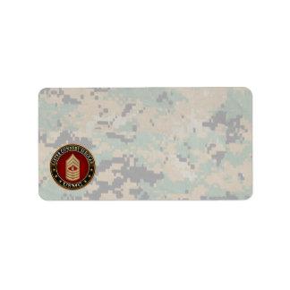 US Marines: Master Gunnery Sergeant (USMC MGySgt) Address Label