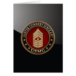 US Marines: Master Gunnery Sergeant (USMC MGySgt) Card