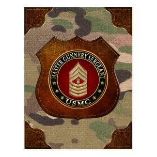 US Marines: Master Gunnery Sergeant (USMC MGySgt) Postcard