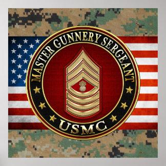 US Marines: Master Gunnery Sergeant (USMC MGySgt) Poster