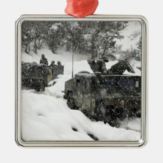 US Marines patrol in Khowst-Gardez Pass Christmas Ornament