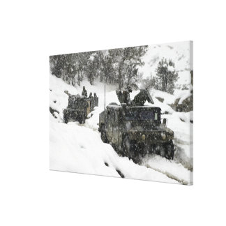 US Marines patrol in Khowst-Gardez Pass Gallery Wrap Canvas