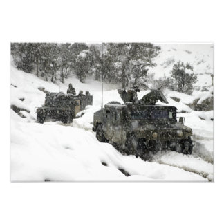 US Marines patrol in Khowst-Gardez Pass Photograph