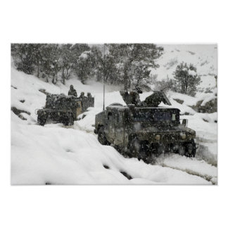 US Marines patrol in Khowst-Gardez Pass Posters
